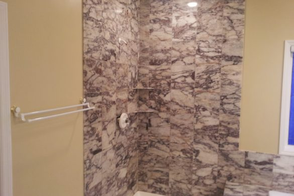 Marble shower restoration