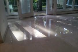 Crema Marfil floor restoration