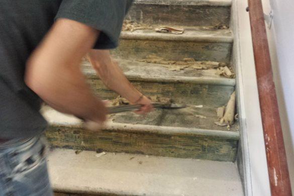 Terrazzo Stairwell restoration