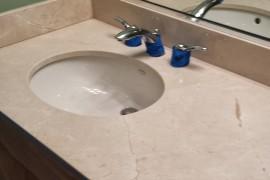 Marble vanity top restoration