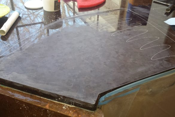 Granite top honing and polishing