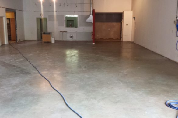 Concrete polishing at Warehouse/Showroom