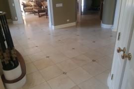 Travertine floor restoration