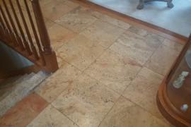 Travertine floor restoration in Lemont