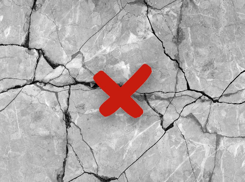 Wrong maintenance of natural stone floors