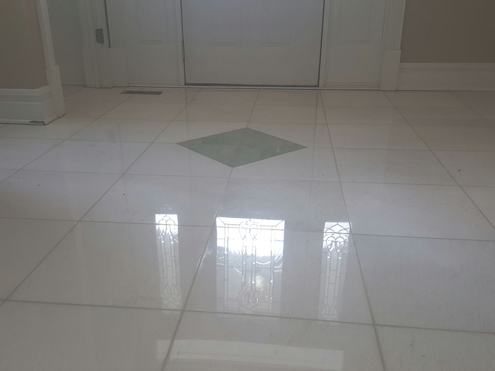 Thassos marble polishing