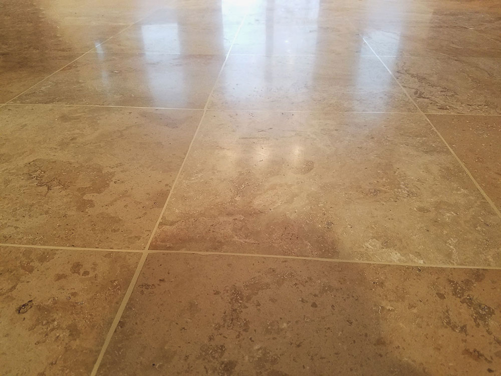 Travertine floor restoration