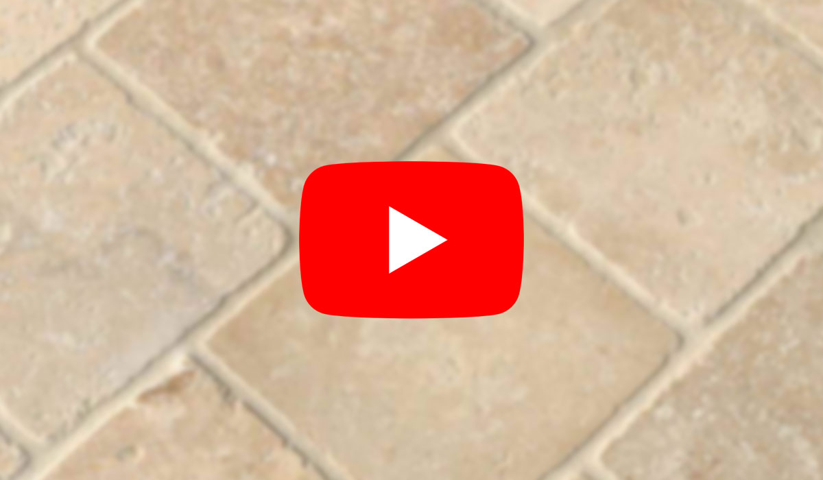 Watch Travertine floor lippage removal and restoration on YouTube