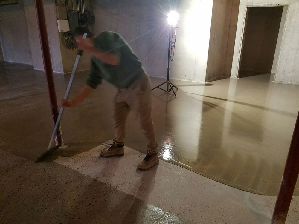 Epoxy grouting system for polished concrete floors
