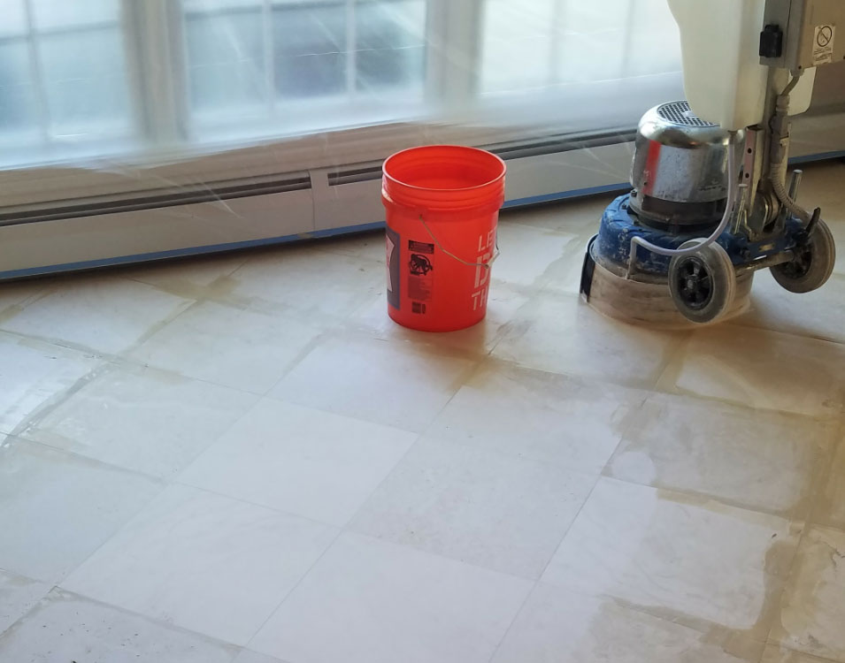 Stone Refinishing System AKA Seamless Floors