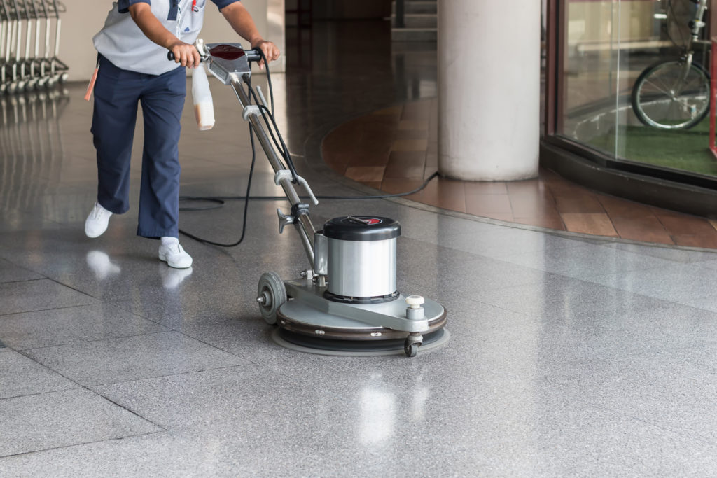 Terrazzo floor maintenance polishing machine