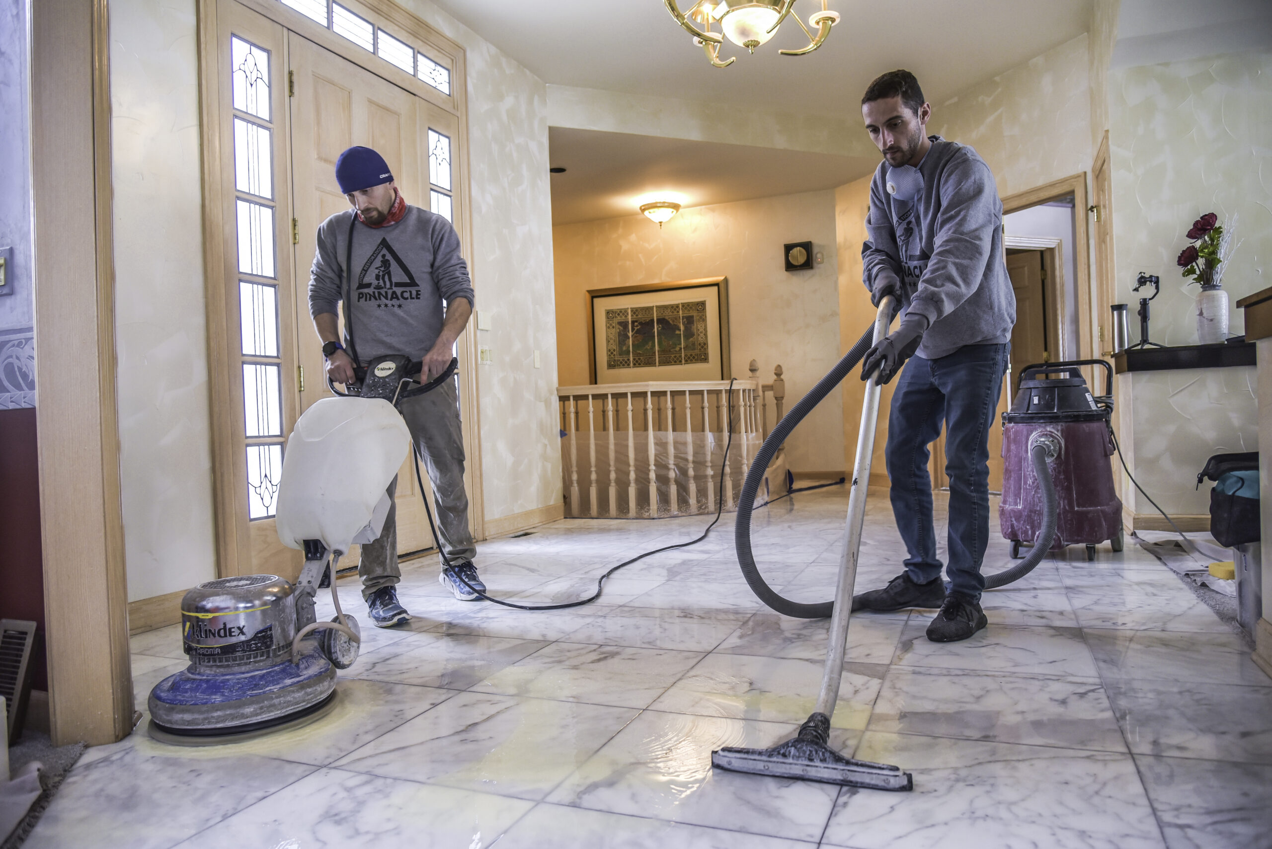 DO YOU NEED MARBLE FLOOR POLISHING? MARBLE SHOWER RESTORATION?  TUMBLED TRAVERTINE DEEP CLEANING? PORCELAIN TILE AND GROUT CLEANING? – WE GOT IT ALL COVERED.