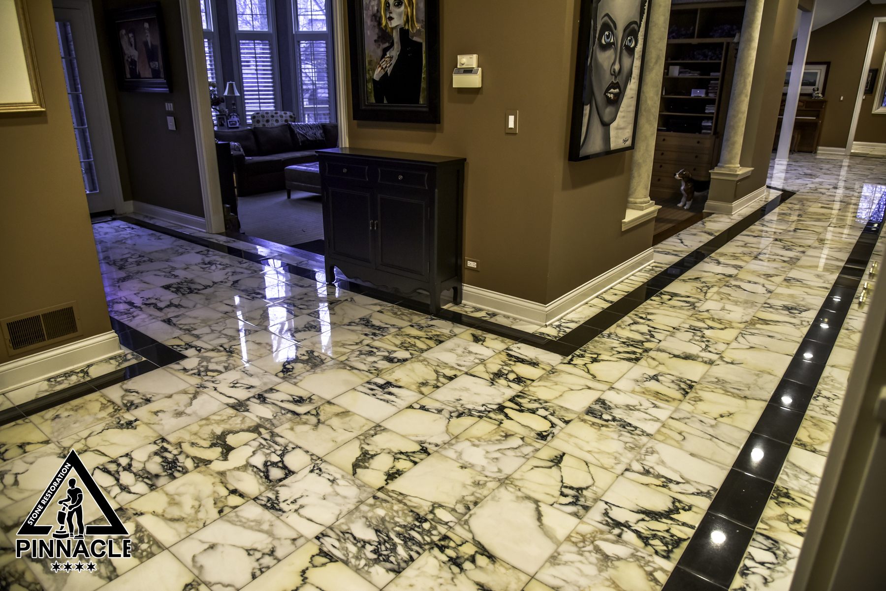 Re-installation or restoration of marble tile floor. What to choose?