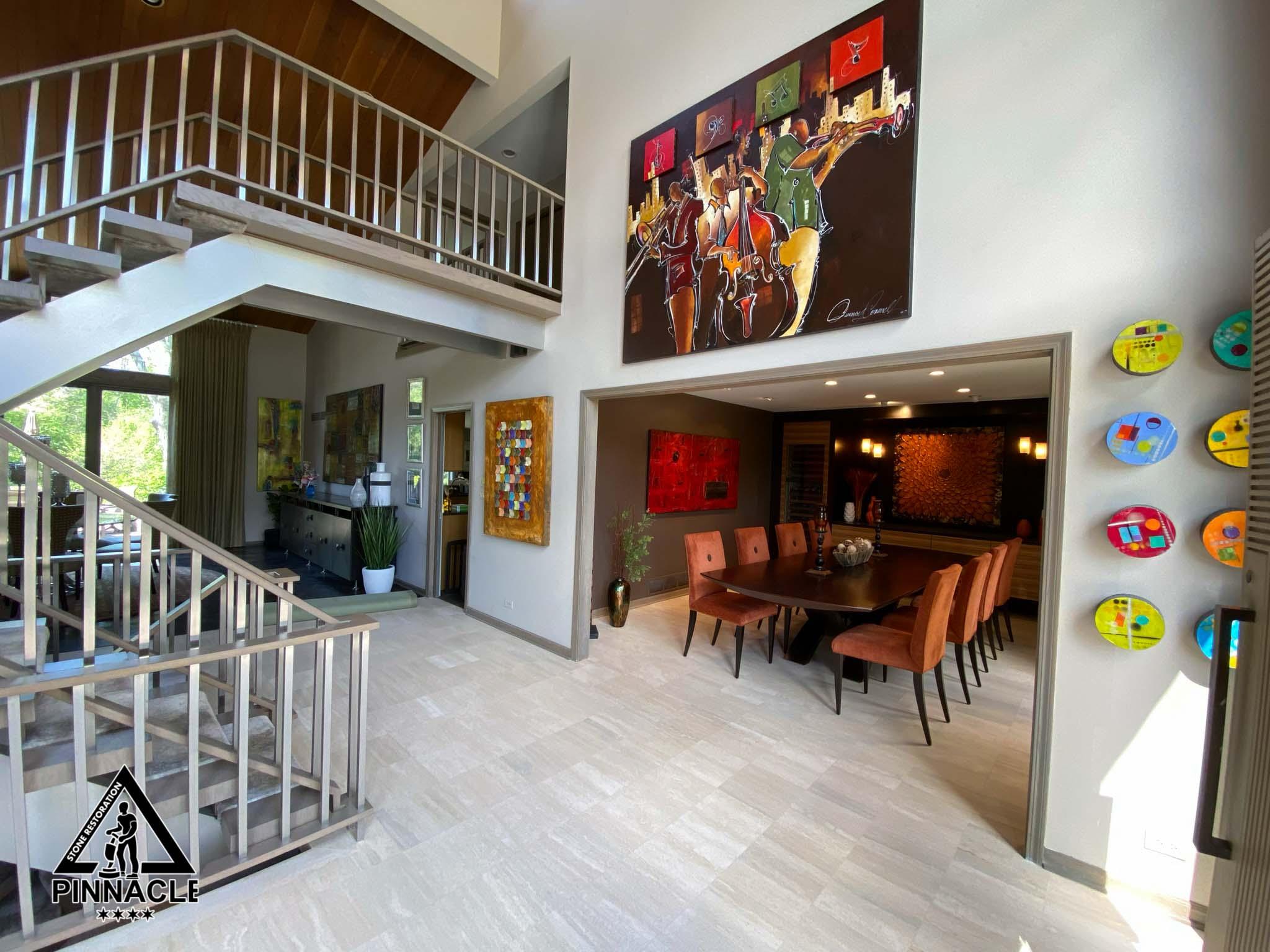"""8+ Refinishing System of Travertine Tile Floor (honed finish) from Series """"Seamless Floors"""""""