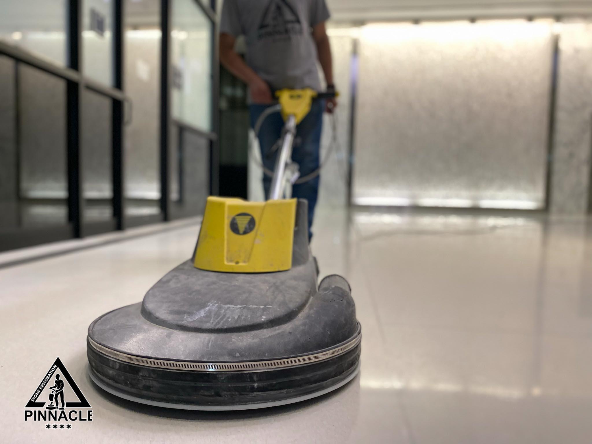 TERRAZZO FLOOR RESTORATION – Terrazzo stripping honing polishing sealing Terrazzo Refinishing Steps