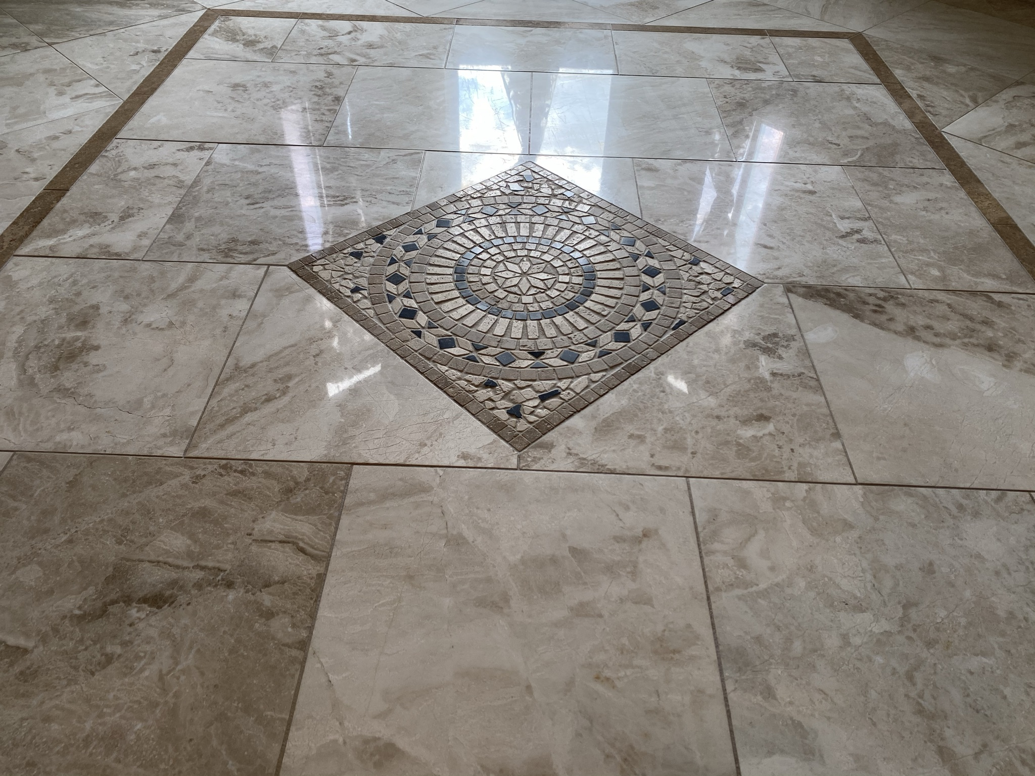 Marble Tile Floor Polishing (marble restoration, grout cleaning, floor polishing, marble sealing)