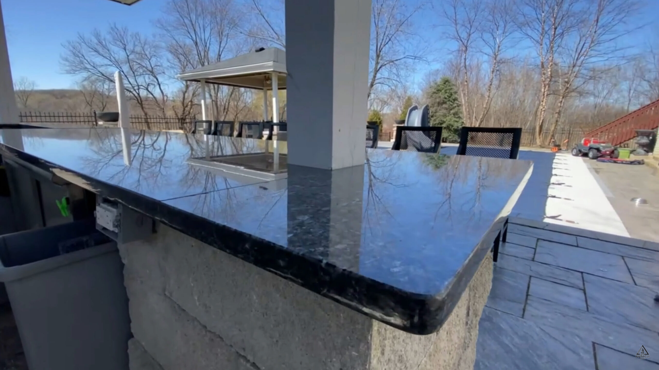 Outdoor granite countertops are ready 4 BBQ season after deep cleaning, buffing, and sealing